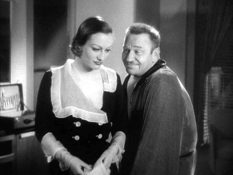 1932 film still from 'Grand Hotel' with Wallace Beery.