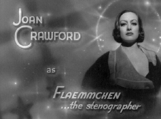 1932. 'Grand Hotel' screen credit for Joan.