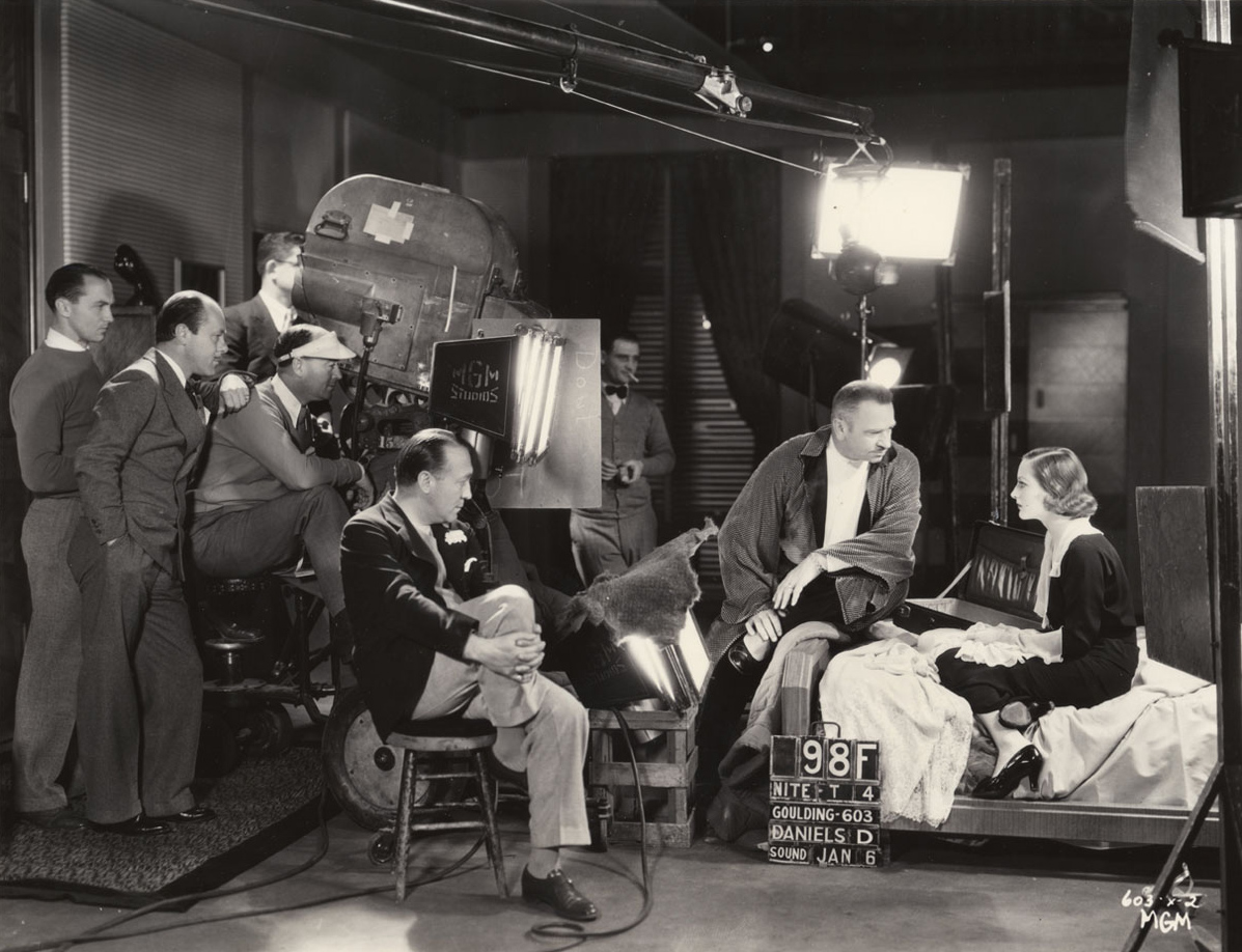 1932. On the set of 'Grand Hotel.'