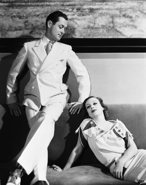 1932. 'Letty Lynton' publicity with Robert Montgomery.