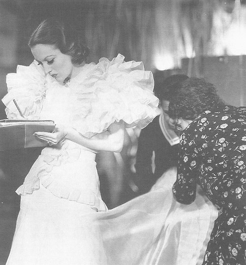 1932. On the set of 'Letty Lynton.'