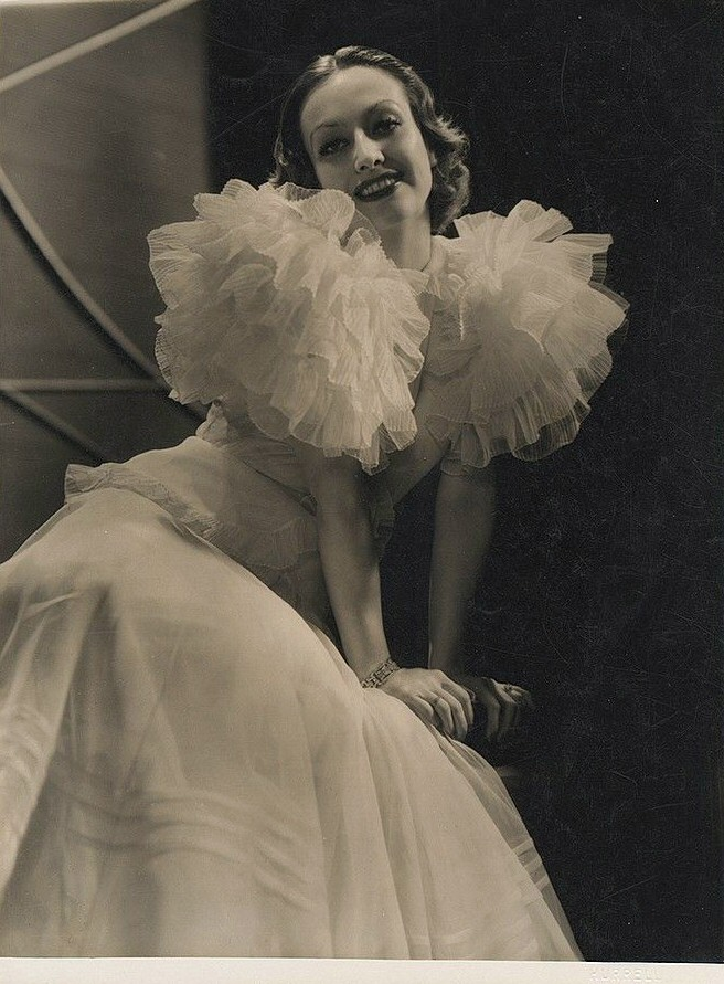 1932. Publicity for 'Letty Lynton' shot by Hurrell. Dress by Adrian.