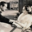 1932. 'Letty Lynton' film still, with Robert Montgomery.