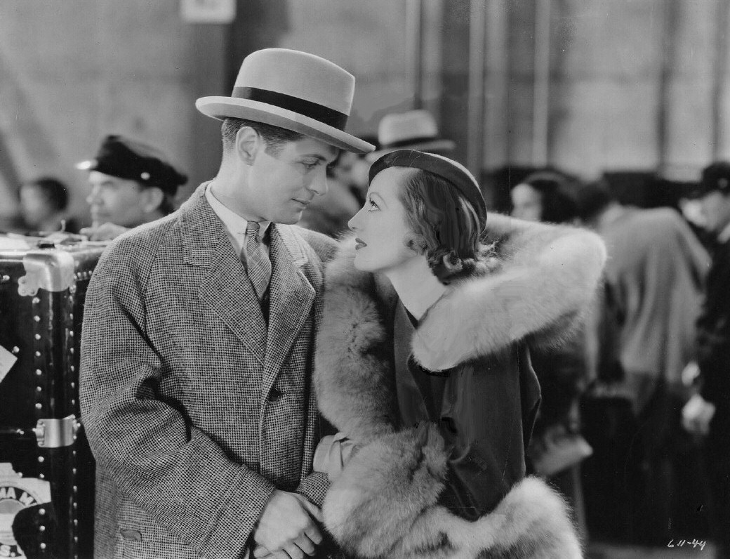 1932. A film still from 'Letty Lynton' with Robert Montgomery.