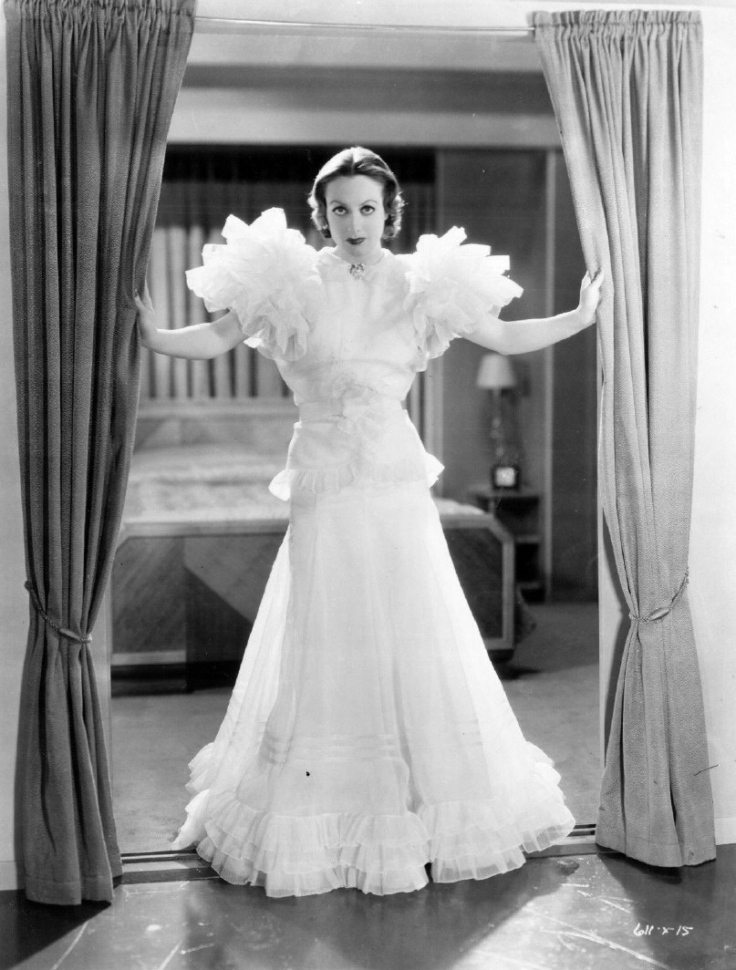 1932. 'Letty Lynton.' Shot by Hurrell. Dress by Adrian.