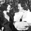 November 1932. Joan and Norma Shearer at the Mayfair Club at LA's Biltmore Hotel.