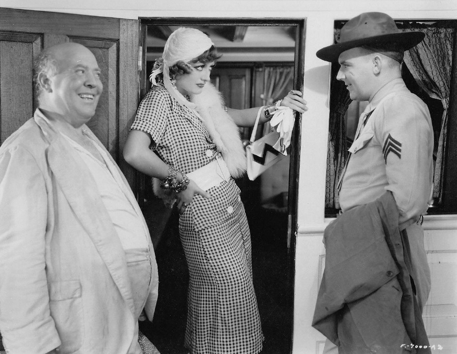 1932. 'Rain.' With Guy Kibbee, left, and William Gargan.