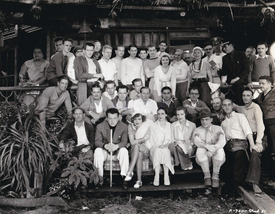 1932. Cast and crew of 'Rain.'
