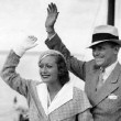 July 1932. With husband Doug Fairbanks, Jr.