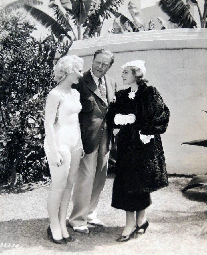 1933. With director Leonard and starlet Anita Thompson, the winner of a chorus-girl part in 'Dancing Lady.'