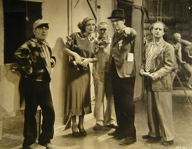 1933. On the set of 'Dancing Lady' with Ted Healy and His Stooges.