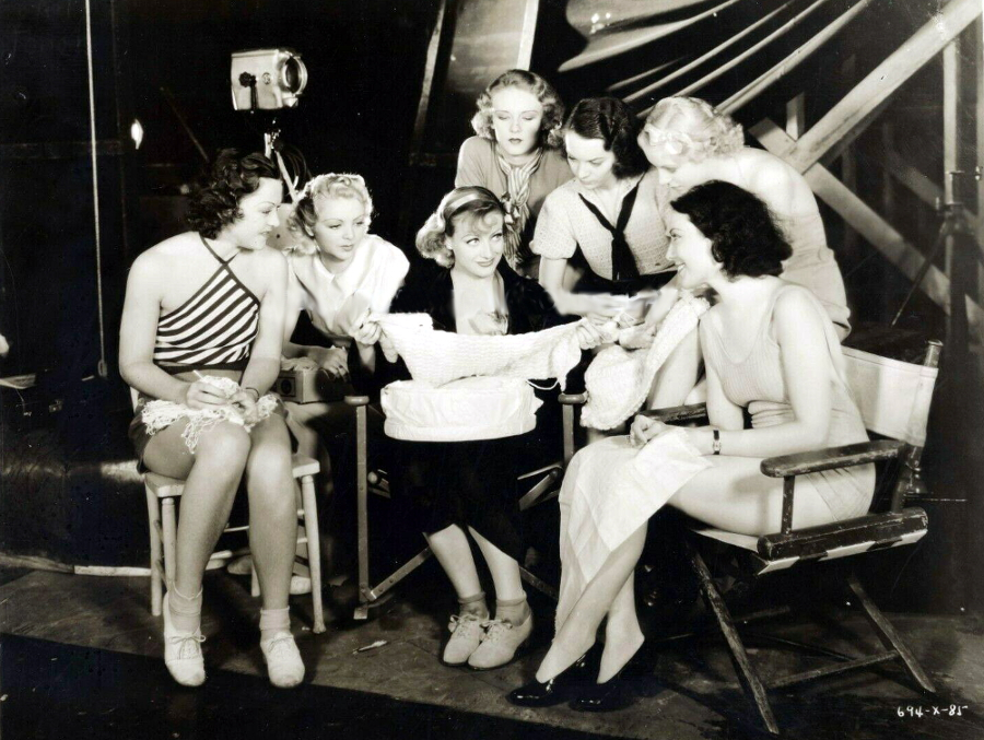 1933. On the set of 'Dancing Lady.'