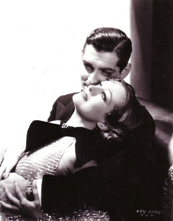 1933. 'Dancing Lady' publicity with Clark Gable.