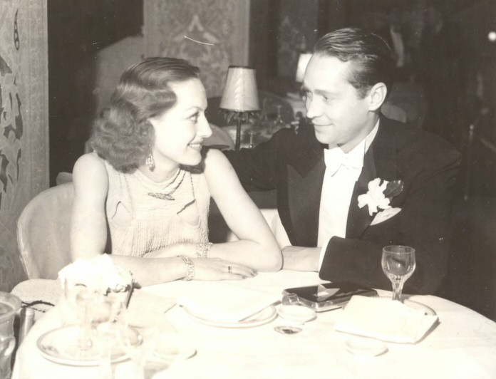 December 27, 1933. Joan with Franchot Tone at the Cocoanut Grove.
