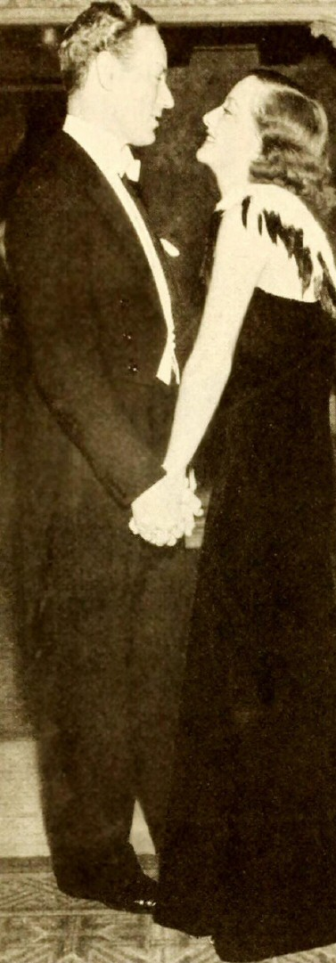 November 1932 with Leslie Howard at the Los Angeles Biltmore Hotel.