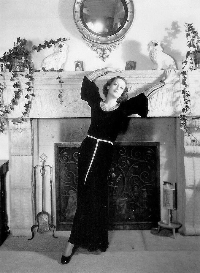 1931. Publicity at home shot by Hurrell.