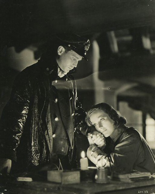 1933. Film still from 'Today We Live' with Franchot Tone.