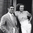 1934. On the set of 'Chained' with Clark Gable.