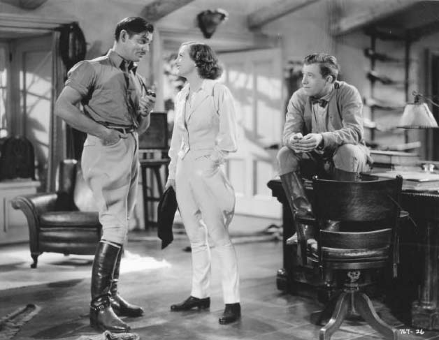 With Clark Gable and Stuart Erwin.