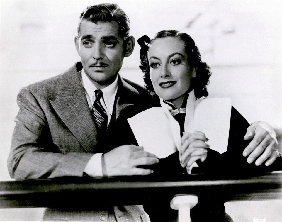 1934. 'Forsaking All Others.' With Clark Gable.