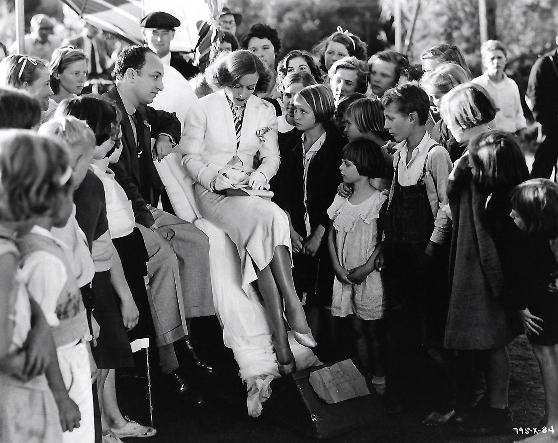 1934. On the set of 'Forsaking All Others.'