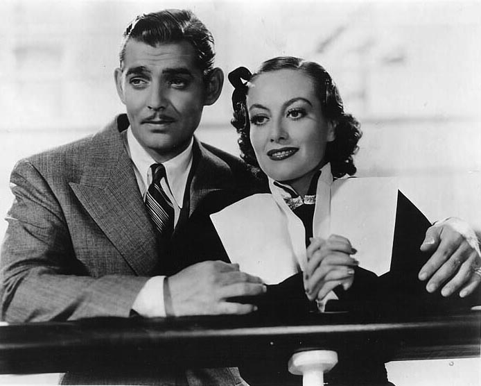 With Clark Gable.