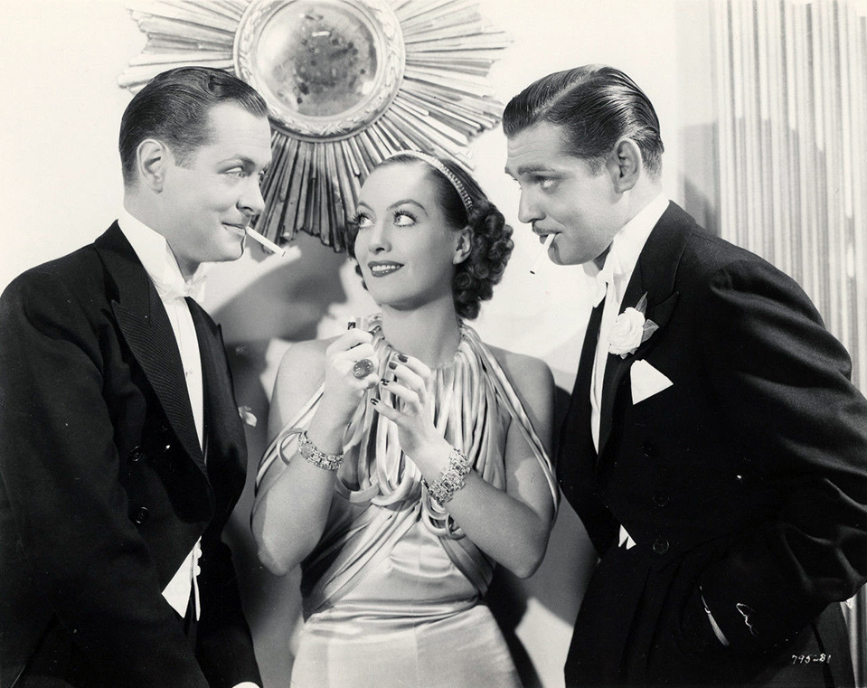 1934. 'Forsaking All Others.' With Robert Montgomery and Clark Gable.