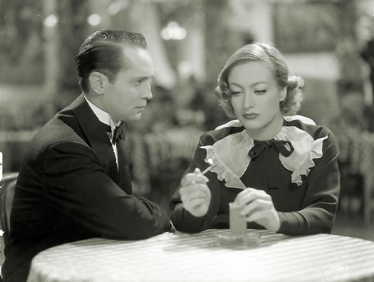 1934. Film still from 'Sadie McKee' with Franchot Tone.