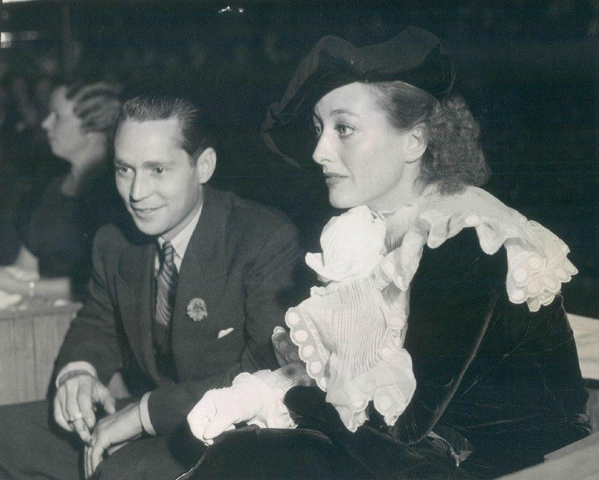 September 1934 at the Hollywood Bowl with Franchot Tone.