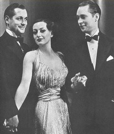 With Robert Montgomery (left) and Franchot Tone.