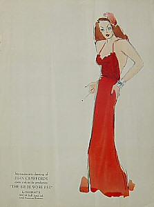 MGM costume sketch by Galbraith.