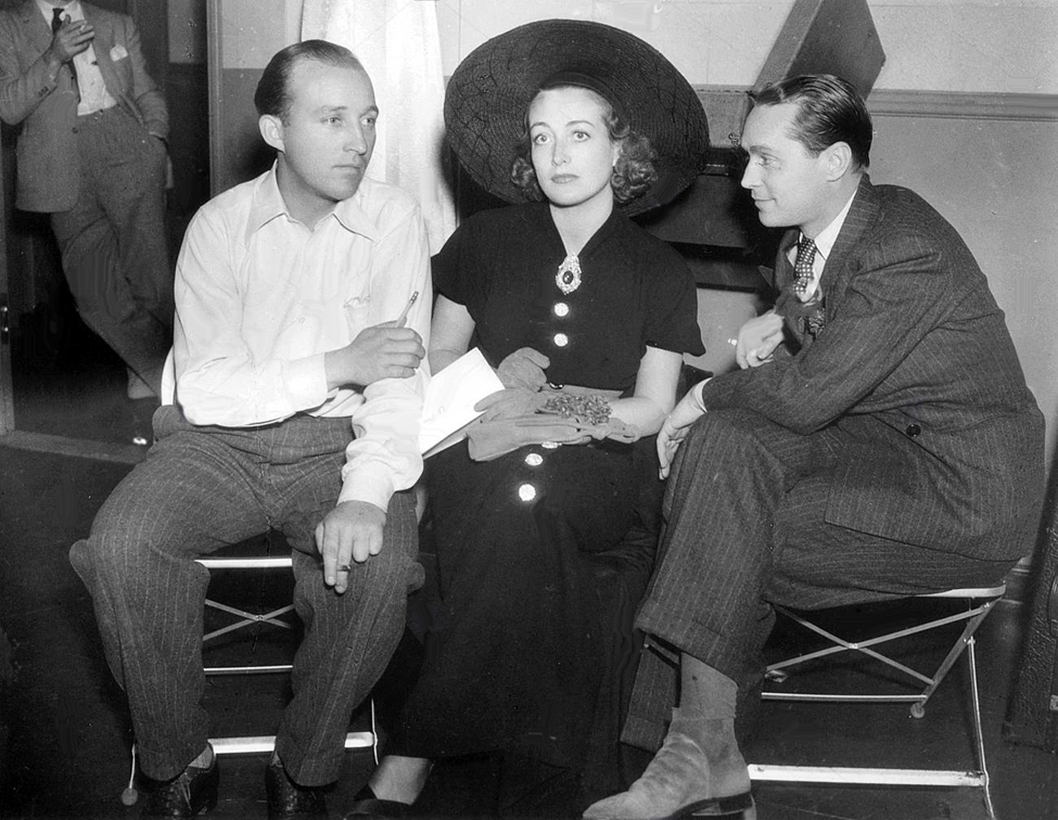 1936. With Bing Crosby, left, and Franchot Tone.