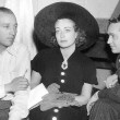 1936. With Bing Crosby, left, and husband Franchot Tone.