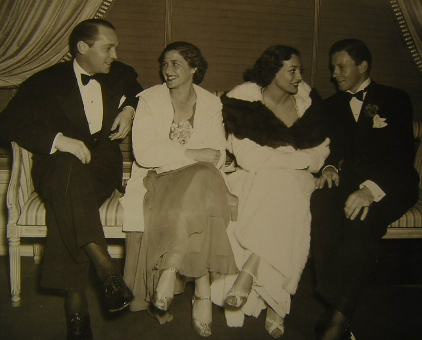 1936. With Franchot Tone, left, and George Murphy.