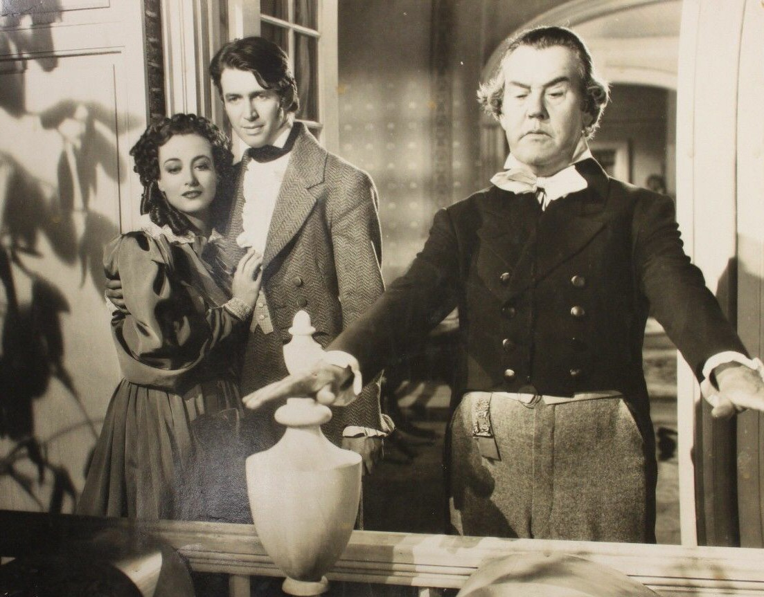 1936 film still from 'The Gorgeous Hussy' with James Stewart, left.