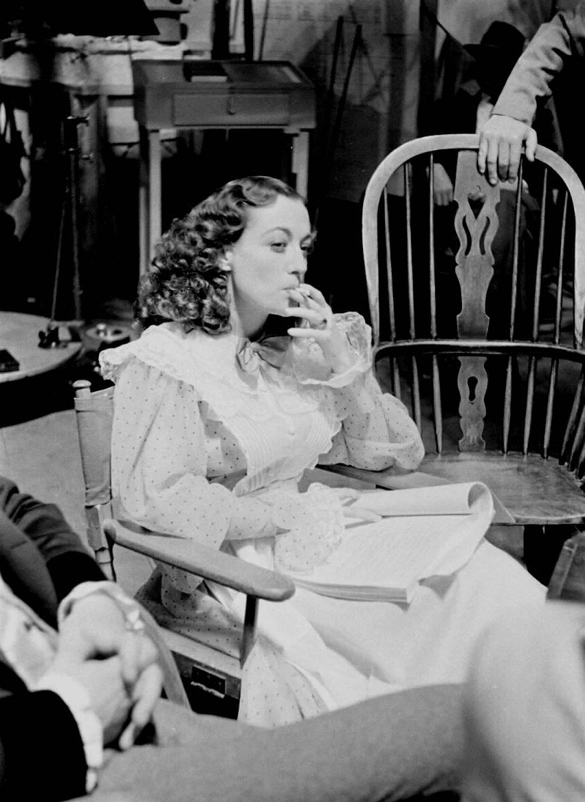 1936. On the set of 'The Gorgeous Hussy.'