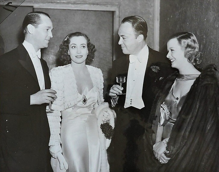 February 1936 at the Biltmore with Franchot Tone, Gene Markey, and Joan Bennett.