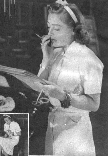 July 27, 1936. Joan doing 'Chained' on the radio.