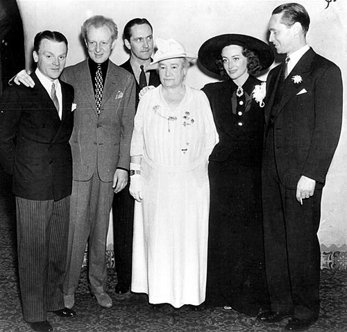 March 10, 1937, reception for conductor Leopold Stokowski (2nd from left) at LA's Ambassador Hotel.