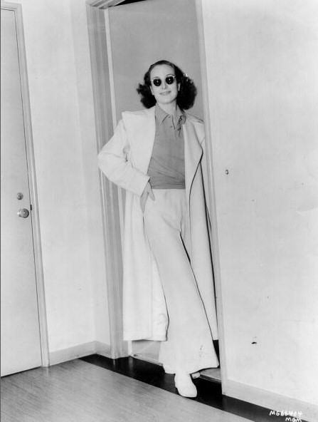 1937, in her dressing room.