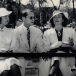 July 23, 1936. At the Will Rogers Polo Field with Barbara Stanwyck and Franchot Tone.