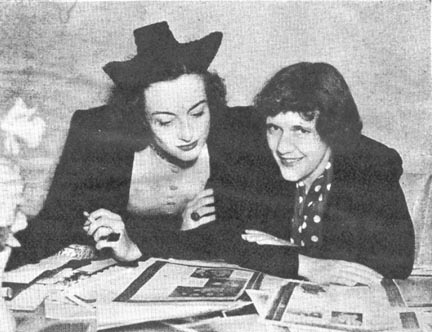 1936. With Photoplay editor Ruth Waterbury.