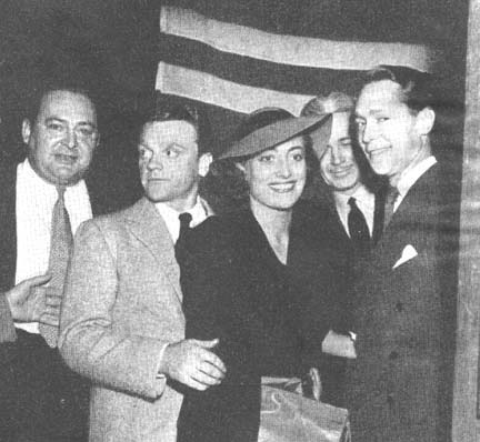 Circa 1937. With Edward Arnold, James Cagney, Franchot Tone.