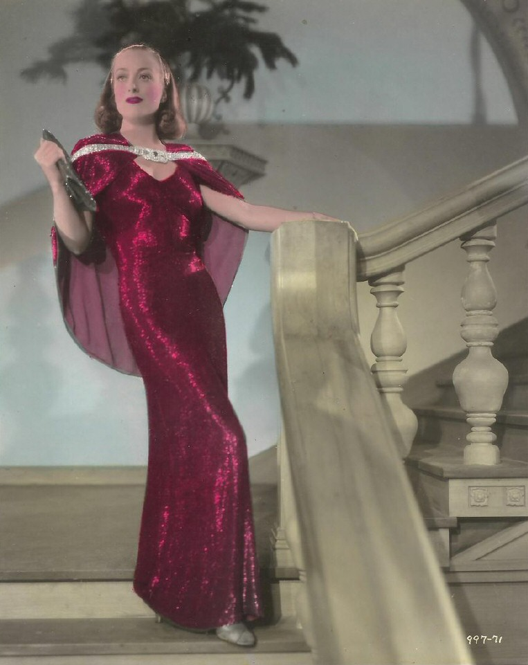 1937. Original colorized publicity for 'The Bride Wore Red.'