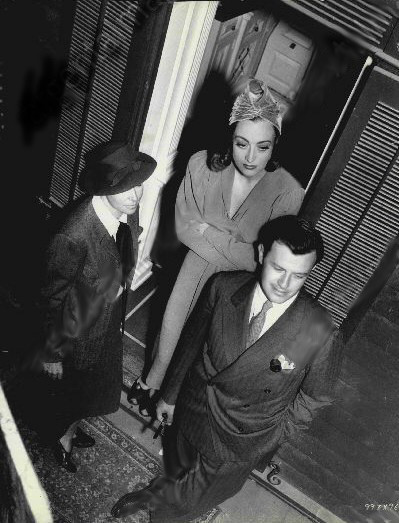 1937. On the set of 'The Bride Wore Red' with director Dorothy Arzner and producer Joseph Mankiewicz.