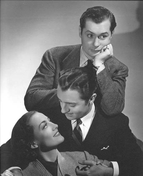 With Robert Montgomery and William Powell.