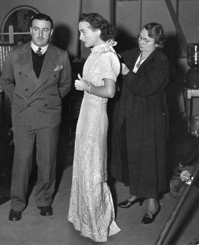 1937. On the set of 'The Last of Mrs. Cheyney.'