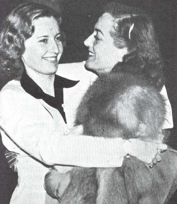 Circa 1937. With Barbara Stanwyck.