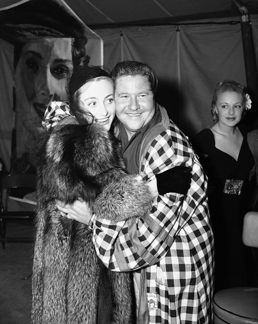 October 28, 1937, with old NYC friend, comedian Jack Oakie.