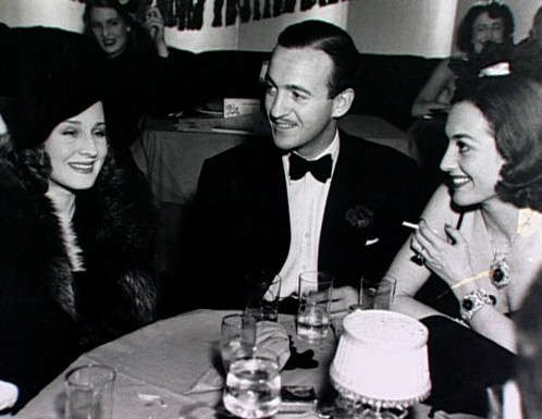 1937. With Norma Shearer and David Niven.
